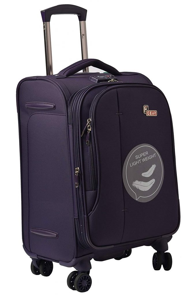 Amazon India : F Gear Aspire Polyester 54 cms Purple Softsided Cabin Luggage