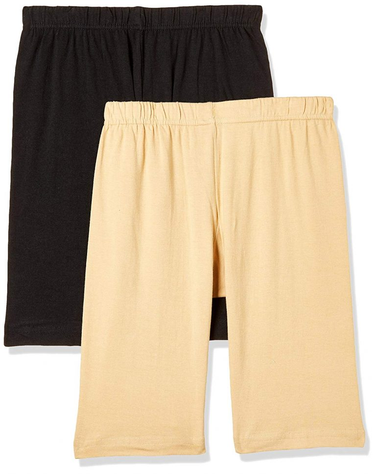 Amazon India : T T Women's Cotton Sports Shorts (Pack of 2)
