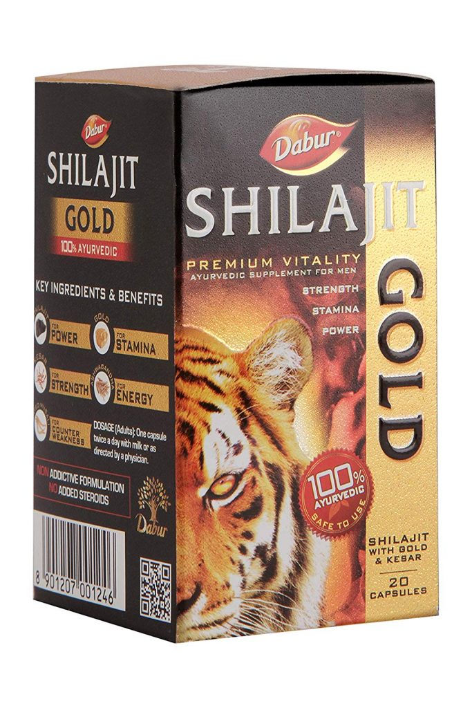 Amazon India : Dabur Shilajit Gold for Strength, Stamina and Power - 20 Capsules