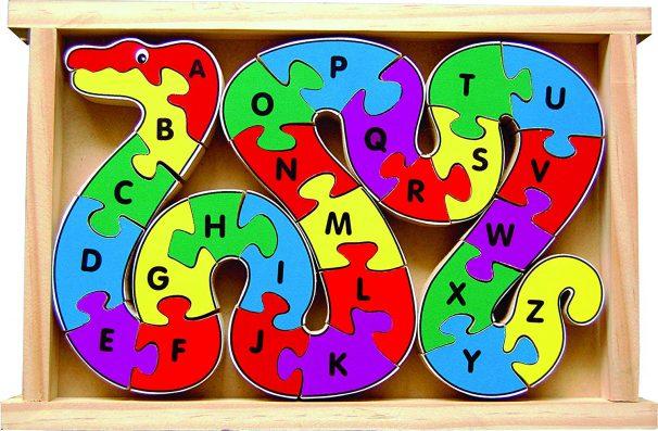 Amazon India : Little Genius Alphabet Snake (26 Pieces Jigsaw Puzzle)