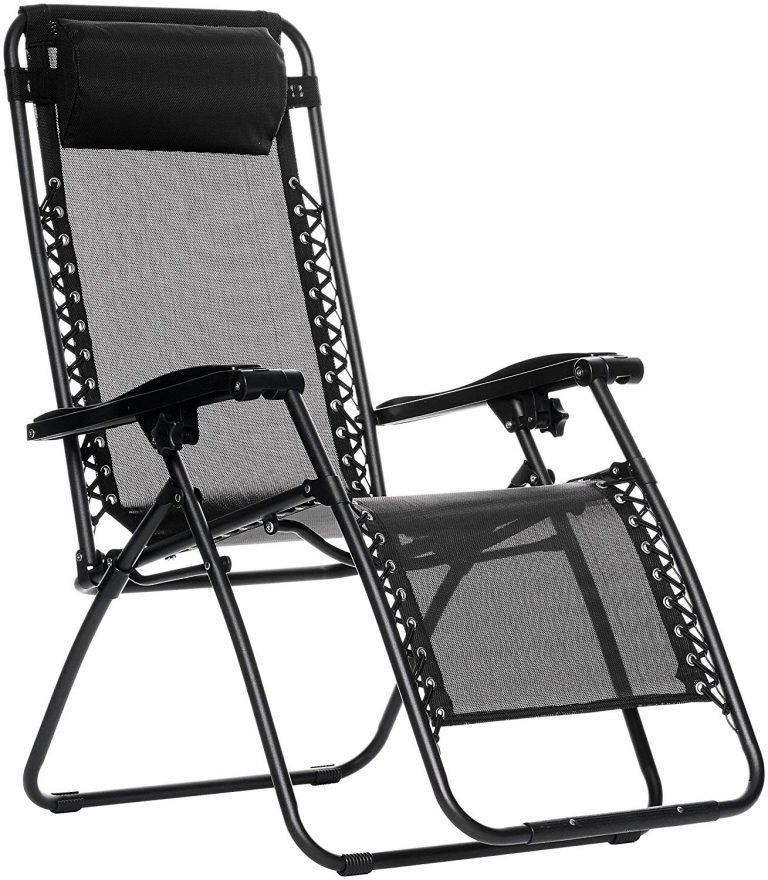 Amazon India : Zero Gravity Reclining Lounge Portable Chair, Black