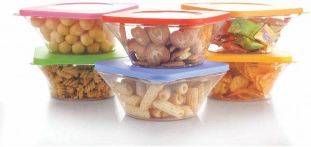 Flipkart : SmartBuy Elegance 6 Pcs - 700 ml Polypropylene Grocery Container, Fridge Container  (Pack of 6, Multicolor)
