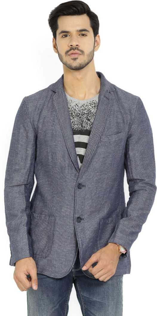 Flipkart : Solid Single Breasted Casual Men Full Sleeve Blazer  (Blue)