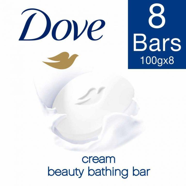 Amazon India : Dove Cream Beauty Bathing Bar, 100g (Pack of 8)