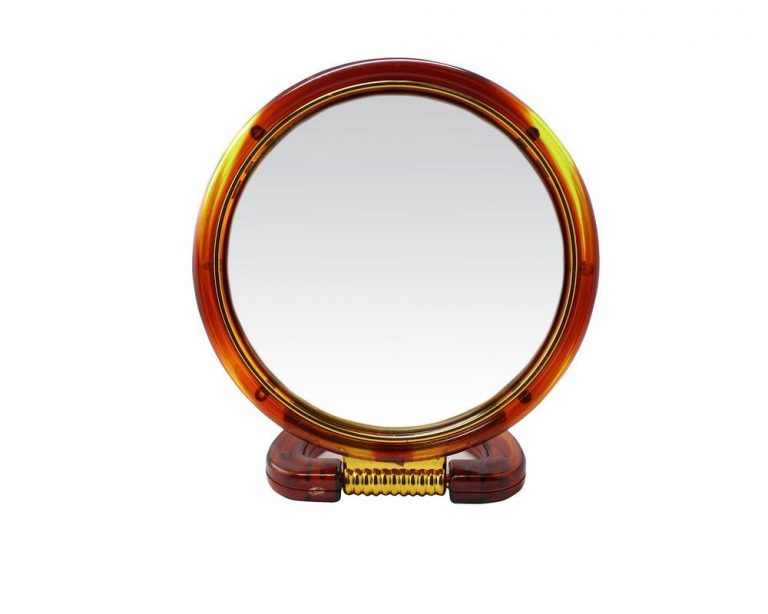 Amazon India : Round Beauty Makeup Cosmetic Mirror & Double-Sided Normal and Magnifying Stand Mirror