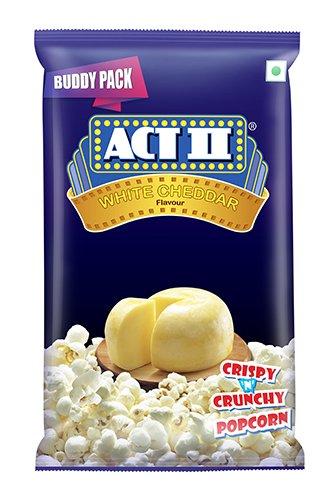 Amazon India : ACTII Popcorn RTE White Cheddar, 50g (Buy 1 Get 1 Free)