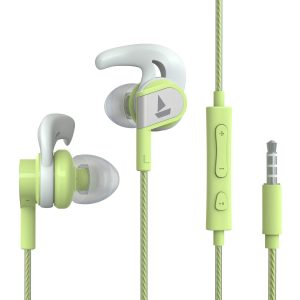 Amazon India : Boat Bassheads 242 Wired Sports Earphones with HD Sound, 10 mm Dynamic Drivers, IPX 4 Sweat and Water Resistance, Superior Coated Cable & in-Line Mic (Spirit Lime)
