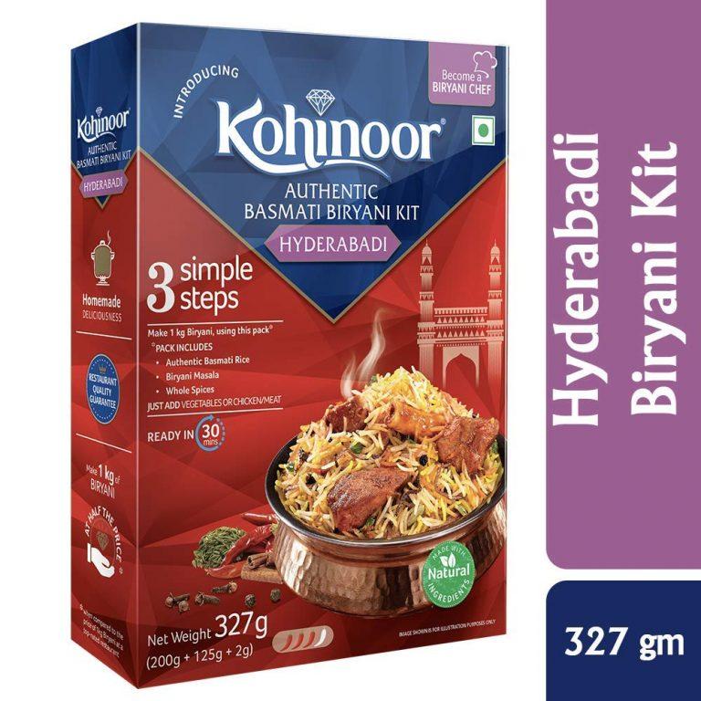 Amazon India : Kohinoor Authentic Basmati Biryani Kit, Hyderabadi, 327g