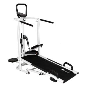 Amazon India : Powermax Fitness MFT-410 4 in 1 Multi-function Manual Treadmill with Jogger, Stepper, Twister and Push Up Bar