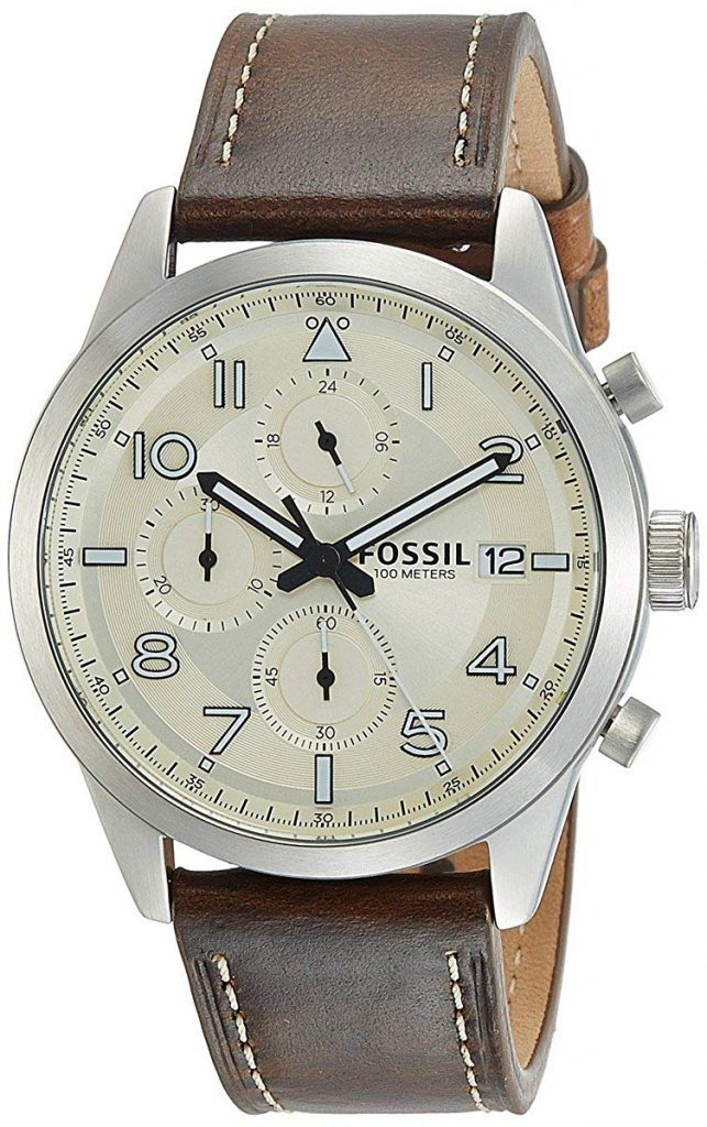 Amazon India : Fossil Chronograph Off-White Dial Men's Watch