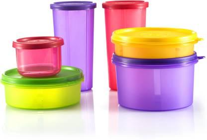 Flipkart : SmartBuy Multipurpose Containers - 535 ml, 350ml, 290ml, 190ml, 150ml - Plastic Fridge Container(Pack of 6, Multicolor)