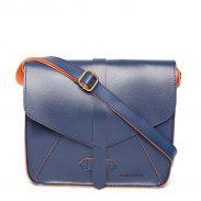 Amazon India : Kanvas Katha Women's Sling Bag (Blue)