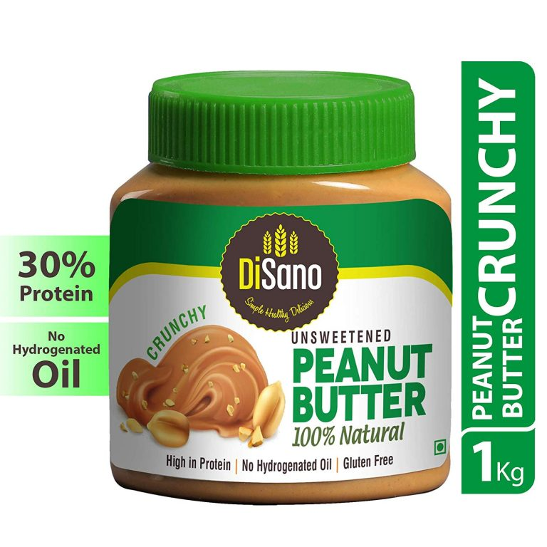 Amazon India : Disano Natural Unsweetened Peanut Butter, Crunchy, 1kg