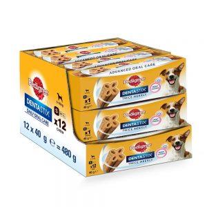 Amazon India : Pedigree Dentastix Advanced Small Breed (5-10 kg) Oral Care Dog Treat (Chew Sticks) 12 Packs (12 x 40g Sticks)