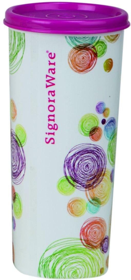 Amazon India : Signoraware Velvet Jumbo Plastic Tumbler, 500ml, Pink