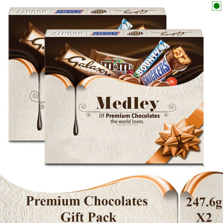 Amazon India : Snickers Medley Assorted Chocolates Gift Pack– 495.2g, Pack of 2
