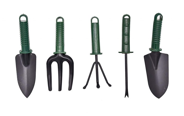 Amazon India : Spartan Gardening Tools Set (Weeder, Cultivator, Fork, Big Trowel and Small Trowel) (Multicolour, 5 Pieces)