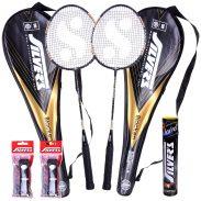 Amazon India : Silver's Blacken 2 Racquets, 1 Box S/C Marvel, 2PVC Grip Badminton Racquet (Multicolor)