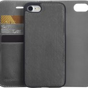 Amazon India : iPhone 8/7 PU Leather Wallet Detachable Mobile Cover, Dark Grey
