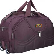 Flipkart : Inte Enterprises 22 inch/55 cm (Expandable) gala purple duffel trolley bag Duffel Strolley Bag  (Purple)