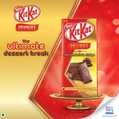 Flipkart : Nestle Kitkat Dessert Delight Rich Chocolate Fudge Bars (150 g)