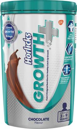 Flipkart : Horlicks Growth Plus Nutrition Drink  (400 g, Chocolate Flavored)
