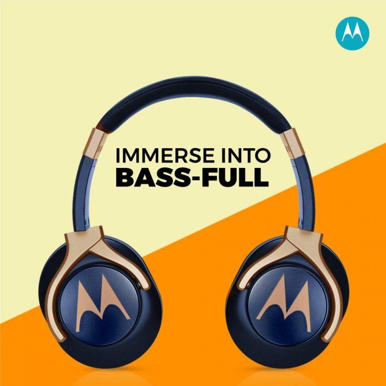 Amazon India : Motorola Pulse 3 Max Over Ear Wired Headphones with Alexa (Blue)