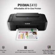 Amazon India : Canon Pixma E410 All in One Inkjet Printer (Black)
