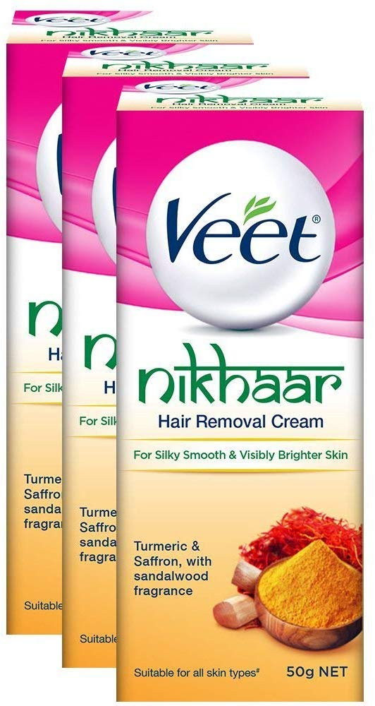 Amazon India : Veet Nikhaar Hair Removal Cream for All Skin Types - 50 g (Pack of 3)