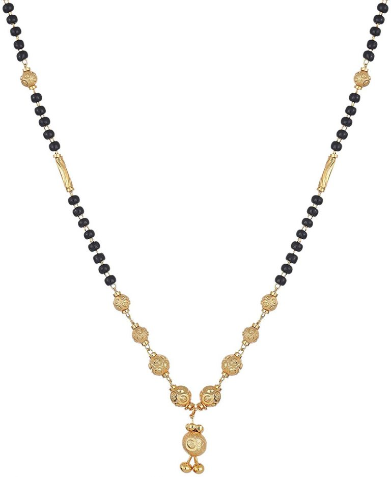 Amazon India : Zeneme Women's Pride Designer Gold Plated Mangalsutra Pendant with Chain for Women