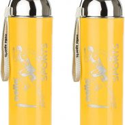 Amazon India : Cello Racer Plastic Sports Bottle Set, 600ml, Set of 2, Yellow