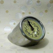 Amazon India : Tu Casa Vintage Meter Clock Steel (10.16 cm x 12.7 cm x 10.16 cm, Chrome)