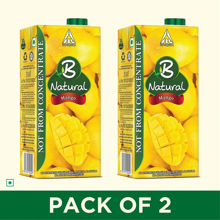 Amazon India : B Natural Mango Juice 1L, (Pack of 2)