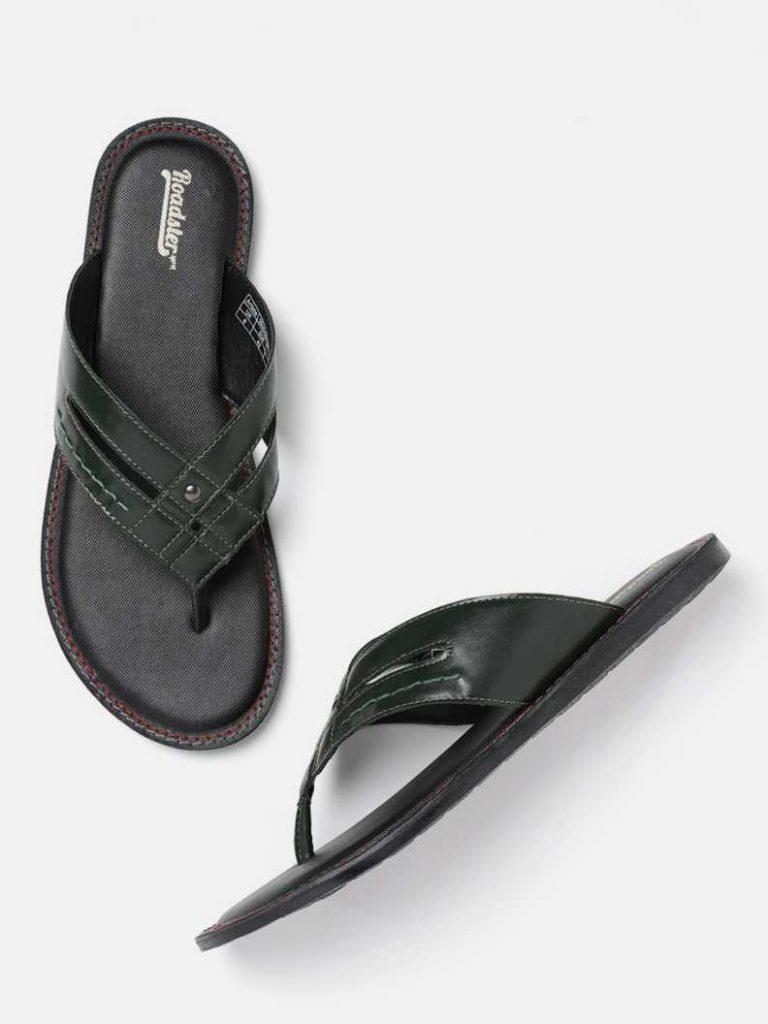Flipkart : Roadster Men Green Sandal