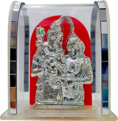 Flipkart : FABZONE Lord Shiv Parivar Idol For Car Dashboard Religious Idol for Car Decorative Showpiece - 6.35 cm  (Silver Plated, Silver)