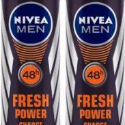 Flipkart : Nivea Men Fresh Power Charge Deodorant Spray - For Men  (300 ml, Pack of 2)