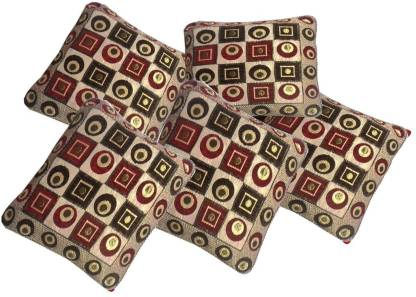 Flipkart : The Decor Hub Geometric Cushions Cover  (Pack of 5, 40.64 cm*40.64 cm, Multicolor)