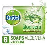 Amazon India : Dettol Soap - 100 g (Pack of 8, Aloe Vera)