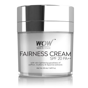 Amazon India : WOW Fairness SPF 20 PA++ No Parabens & Mineral Oil Cream, 50mL