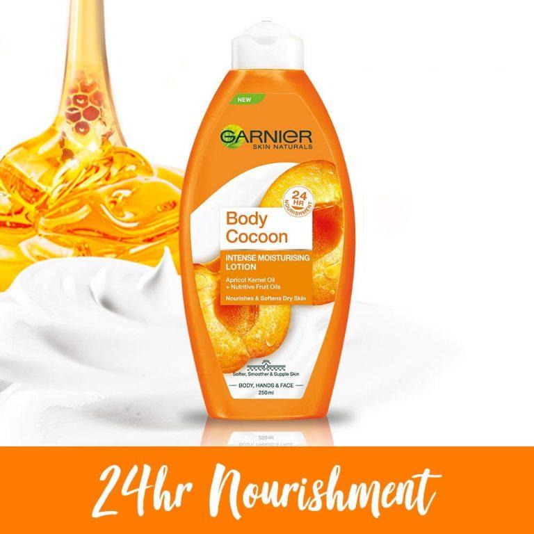 Amazon India : Garnier Body Cocoon Intense Moisturising Lotion, 250ml + Garnier Winter Cocoon Nourishing Cold Cream, 18g