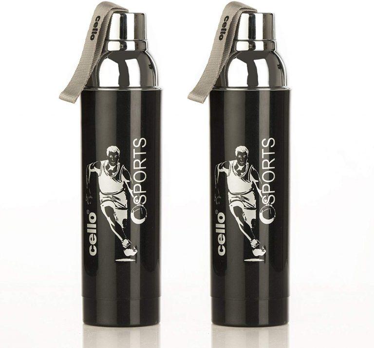 Amazon India : Cello Ferro Plastic Bottle Set, 900ml, Set of 2, Black