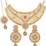 Amazon India : I Jewels Traditional Choker Bridal Necklace Set Jewellery for Women