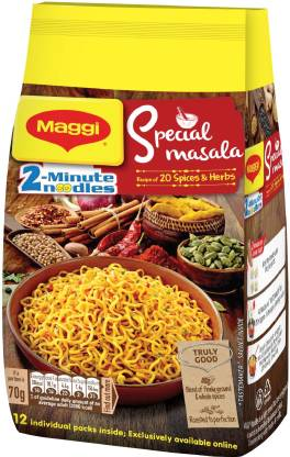 Flipkart : Maggi 2-Minute Special Masala Instant Noodles Vegetarian  (12 x 70 g)