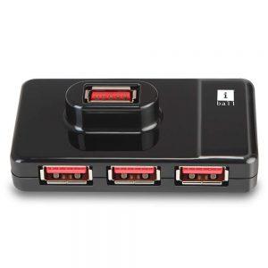 Amazon India : iBall Piano 430 USB 3.0 Super-Fast 4 Port Hub (Black)
