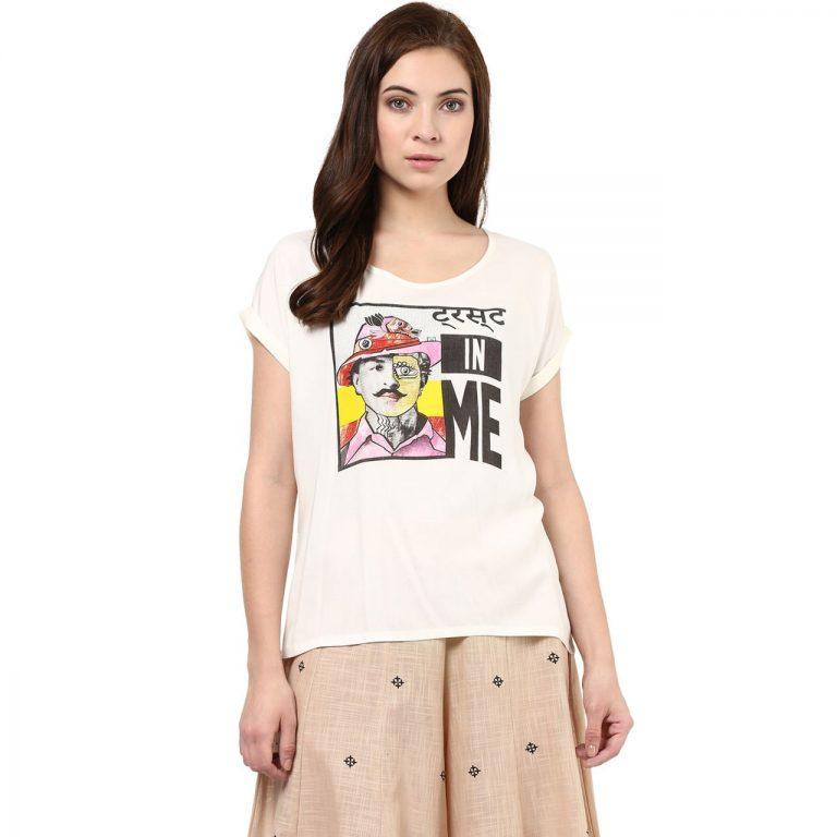 Amazon India : Akkriti By Pantaloons Women's Cotton Tunic Top
