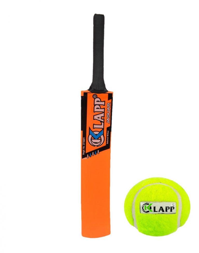 Amazon India : Klapp Jaguar Popular Willow Cricket Bat with Tennis Ball, Size 7