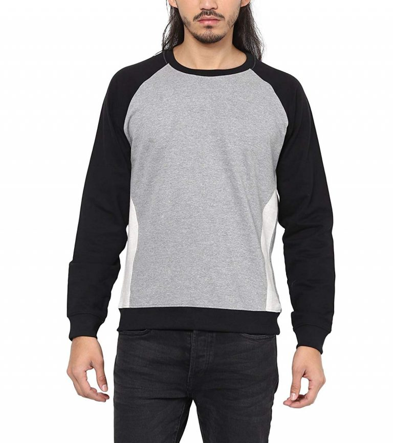 Amazon India : AMERICAN CREW Men's Color Block Sweatshirt Winter Wear