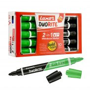 Amazon India : Luxor Duorite 2-in-1 Bullet Tip Whiteboard Marker - Black & Green - Pack of 10