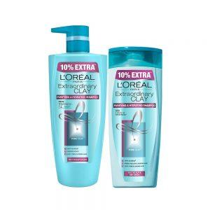 Amazon India : L'Oreal Paris Extraordinary Clay Shampoo, 1L (640ml+360ml) - Combo pack of 2