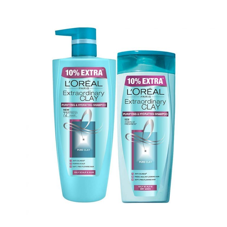Amazon India : L'Oreal Paris Extraordinary Clay Shampoo, 1L (640ml+360ml) - Combo pack of 2